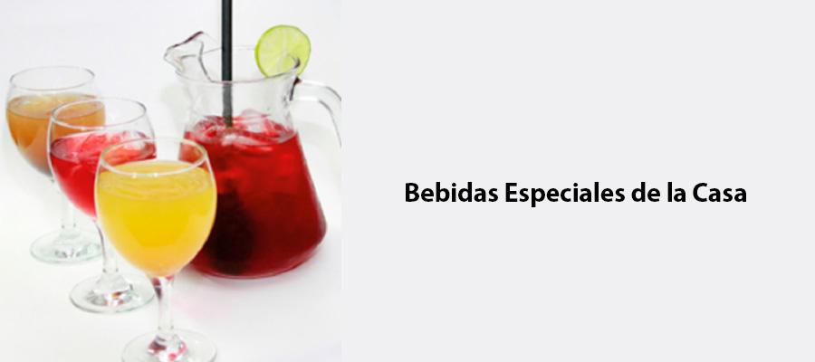 Bebidas Especiales de la Casa
